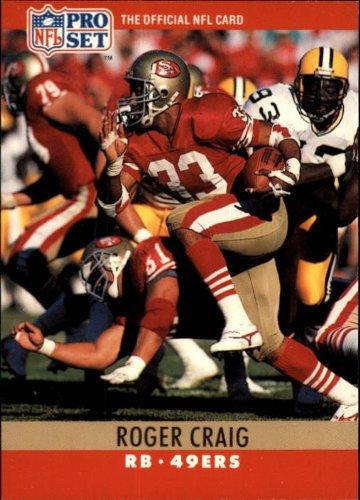 (1990 Pro Set Football Card #287 Roger Craig)
