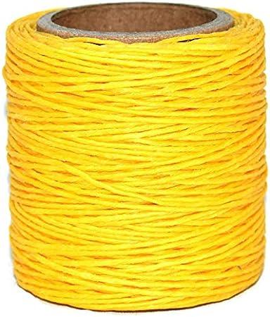 .040 Brown Waxed Polycord Maine Thread Includes 2 spools. 210 feet each