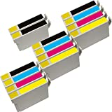 Inktoneram Remanufactured Ink Cartridges Replacement for Epson T200120, T200220, T200320, T200420 (5xBlack, 3xCyan, 3xMagenta, 3xYellow, 14-Pack)
