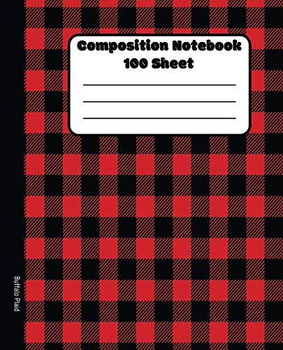 (Composition Notebook | 100 Sheet | Buffalo Plaid: College Ruled Blank Lined Notebooks | Classic School Book | Class Notes Revision Journal)