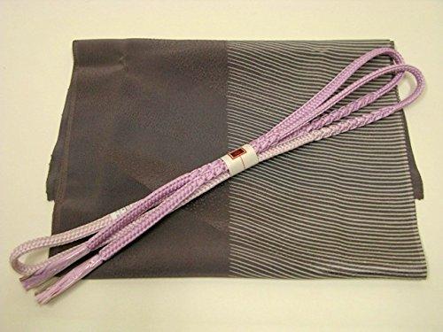 ディスク分水星正絹帯揚げ帯締めセット/源氏鼠?浅紫