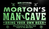 qd1462-g MORTON's Man Cave Soccer Football Neon Beer Sign
