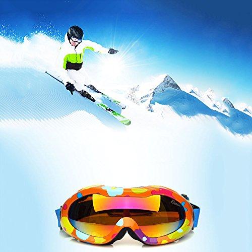 SE7VEN Masques De Ski Enfants, Large Sphercial Lunette Lentille Résistance Au Vent Pour Ski-alpinisme A