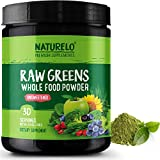 Best Energy Boosters - NATURELO Raw Greens Superfood Powder - UNSWEETENED Review