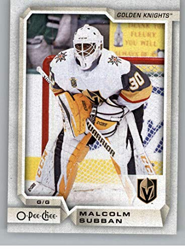 2018-19 OPC O-Pee-Chee Hockey #217 Malcolm Subban Vegas Golden Knights Official 18/19 NHL Trading Card