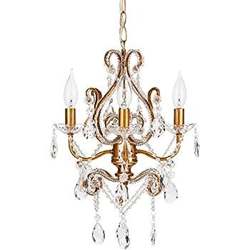 josephine vintage gold chandelier mini nursery plugin glass pendant 4