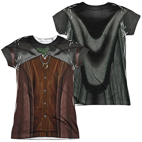 Juniors: Lord Of The Rings- Frodo Costume Tee (Front/Back) Juniors (Slim) T-Shirt Size -