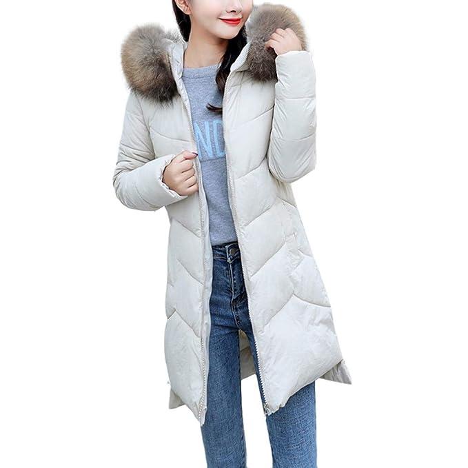 Chaqueta Larga, BBestseller Invierno Slim Fit Abrigo Hooded Casual con Chaqueta de algodón Capa Jacket