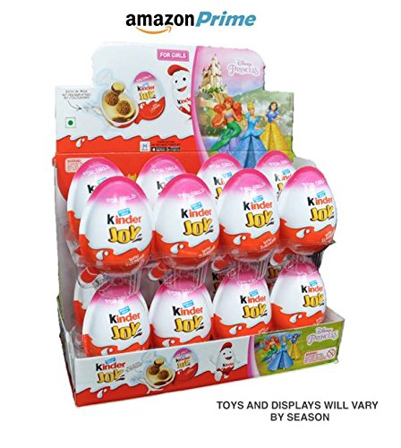 Kinder Display With 16 Units    Kinder Joy With Surprise Inside   Sold By Icstore  Display W  16 Girl