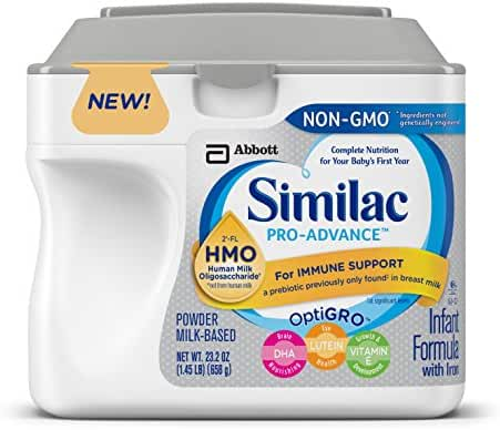 Similac Pro-Advance Infant Formula with Iron, with 2'-FL HMO, For Immune Support, Baby Formula, Powder, 23.2 ounces (Single Tub)