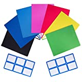 PerfectCover Stretchable Book Covers (7-Pack) Durable, Reusable and Protective Jackets for Schoolbooks, Textbooks, Hardcover - Multiple Colors - Includes 12 Stick-On Organization Labels