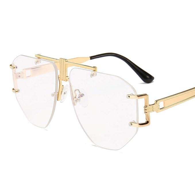 Amazon.com: Marco de gafas para hombre sin borde de metal de ...
