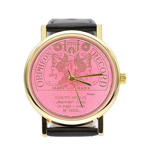 Vintage Jukebox Retro (Jukebox Watch Vintage Style Watch (Pink, Tan))