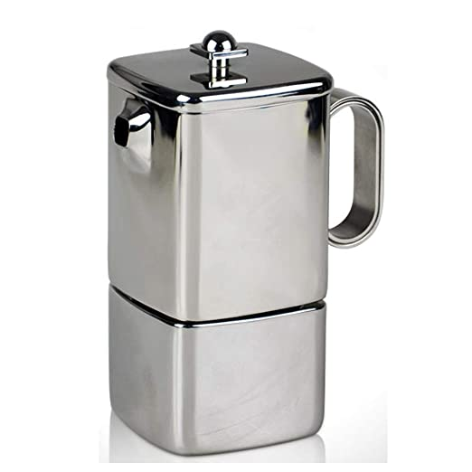 Maquina de Cafe Moka Olla de Acero Inoxidable del hogar pequeño ...