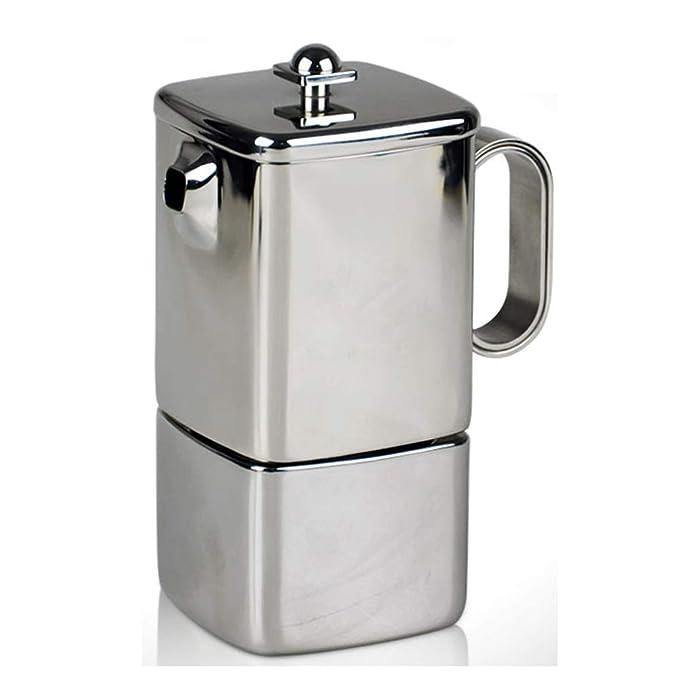 Cafetera Espresso Moka Olla de Acero Inoxidable del hogar pequeño ...