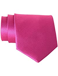 New Polyester Textile Men's Neckties Solid Color Ties