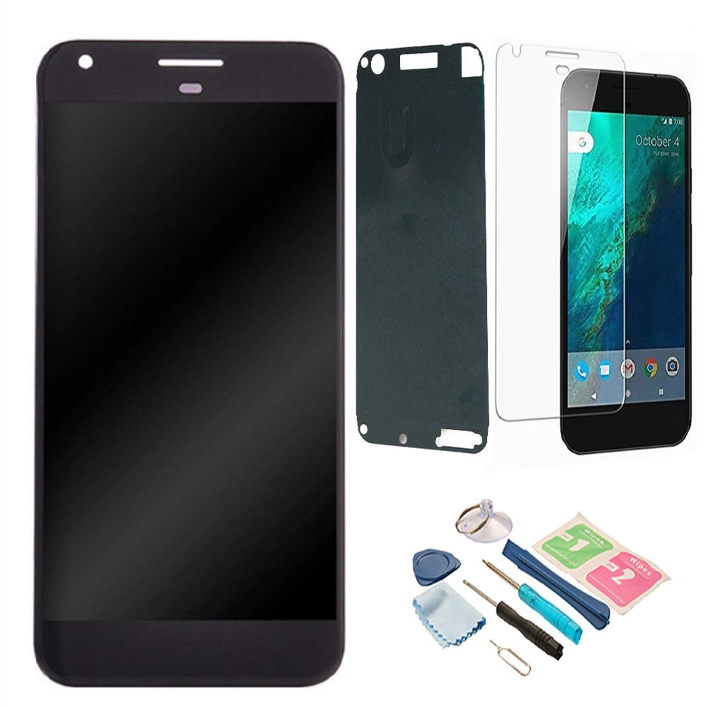 XR MARKET Compatible Google Pixel 1st Screen Replacement, LCD Display Touch Digitizer Glass Screen Assembly Part, with Tools, Screen Protector (NOT for Google Pixel 2 & Pixel XL & Pixel 2 XL) Black