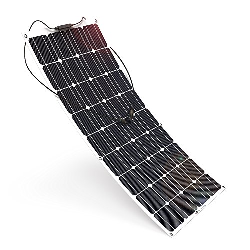 ALLPOWERS 18V 12V 100W Solar Panel Charger Monocrystalline Lightweight Flexible MC4 Connector Charging RV Boat Cabin Tent Car (Compatibility 18V Below Devices)
