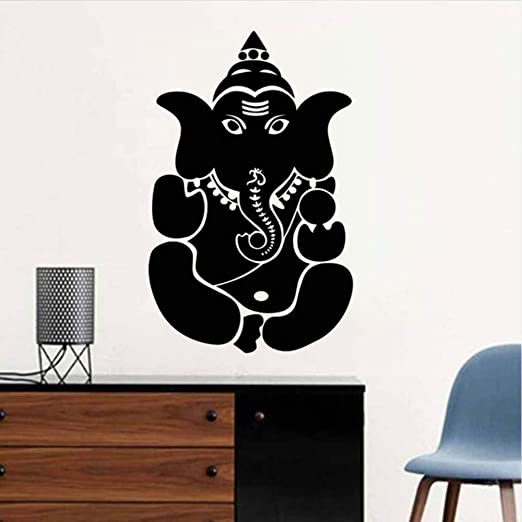 Cmhai Indian Mitos Ganesha Pegatinas De Pared Patrón De Elefante ...