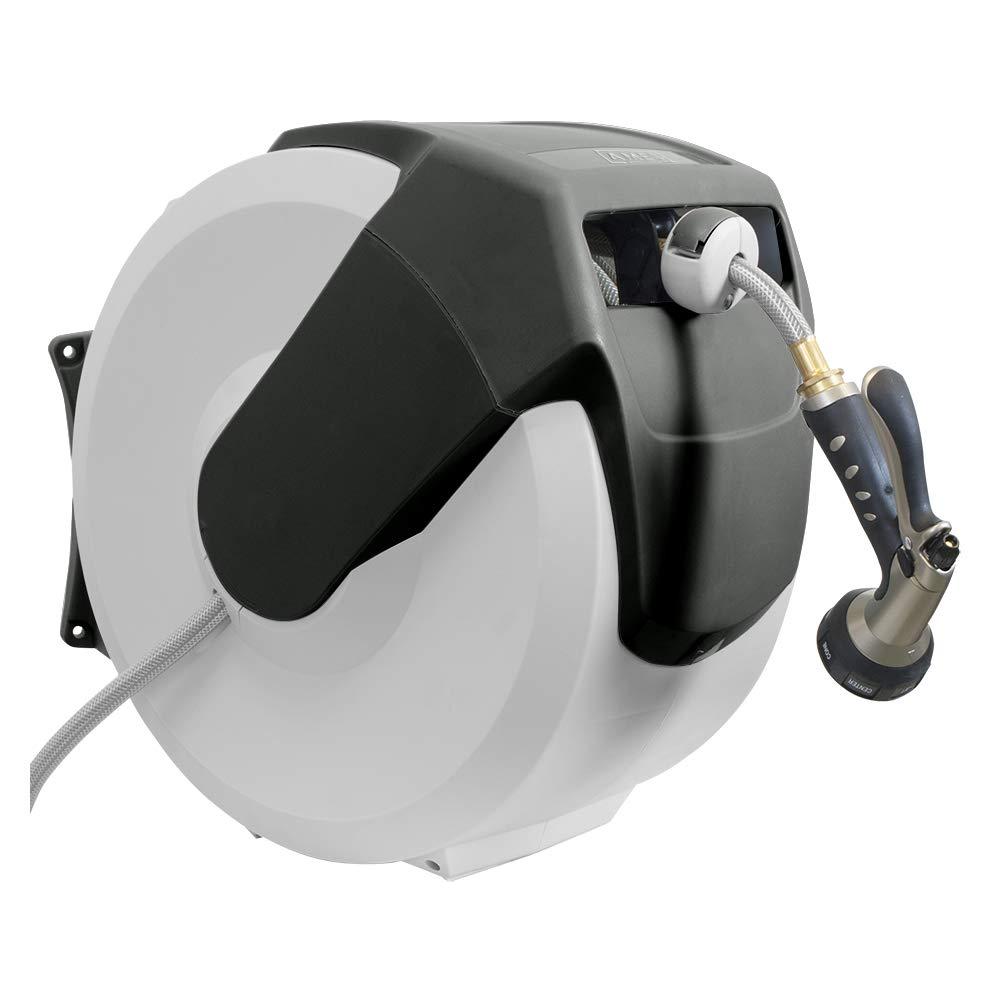 AMES 2416500 NeverLeak AutoWinder Retractable Wall Mount Reel 100-Foot Hose Capacity