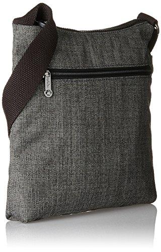 Kipling - Zamor, Bolsos bandolera Mujer, Mehrfarbig (Water Camo), 25.5x24.5x4 cm (B x H T) Gris (Cotton Grey)