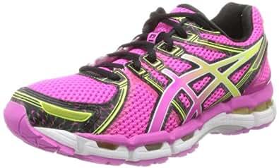 ASICS Women's GEL-Kayano 19 Running Shoe,Neon Pink/Sunshine/Black,7 B US