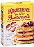 Krusteaz Light & Fluffy Complete HEART HEALTHY Buttermilk Pankcake Mix, 28 Oz. Box, (2 Pack)