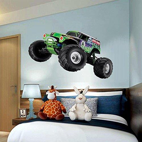 GRAVE DIGGER truck monster jam 3D Wall Decal Sticker 18