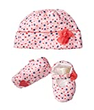 Kate Spade New York Kids Baby Girl's Cap & Shoe Set (Infant) Mini Floral One Size