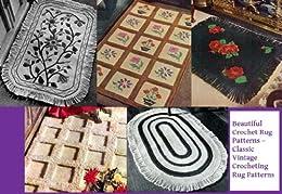 Amazon.com: Bonitos patrones de alfombra de Crochet – Vintage Classic tejer patrones de alfombra
