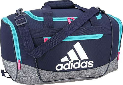 Adidas Defender III Small Duffel, Collegiate Navy/Onix Jersey/Hi ...