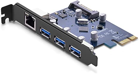 PCI-Express PCI-e To USB 3.0 4 Port Controller Card 5Gbps VL805 WIN 10//8 4Pin