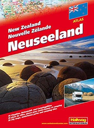 Autoatlas Neuseeland mit Spiralbindung (Hallwag Atlanten)
