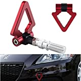 tow hook accord - Dewhel JDM Racing Aluminum Triangle Tow Hooks Eyes Front Rear Japanese Car Auto Trailer Red