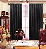 Benzara Velvet Drape Each Panel, Black Review