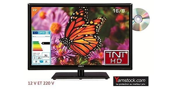 Televisión TV + DVD LED 22 HD 12 V/220 V Camping Car: Amazon.es ...