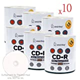 Smart Buy CD-R 6000 Pack 700mb 52x Thermal Printable White Blank Recordable Discs, 6000 Disc, 6000pk