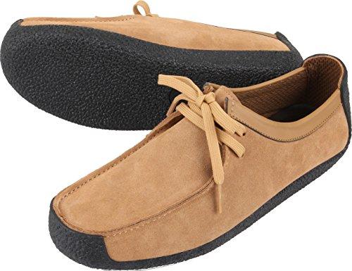 Gadae-001 Mocasines Mocasines De Cuero Unisex Clásico Zapatos Camello