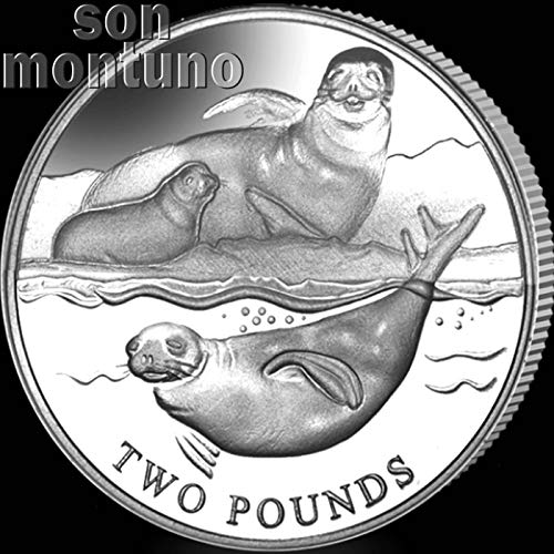 Crabeater Seal - CRABEATER SEAL - 2017 British Antarctic Territory £2 Uncirculated Cupro Nickel Coin - Limited Mintage of Only 10,000 Pieces