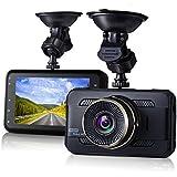 Dash Cam,EVASA 3.0 1080P 170° Wide Angle Metal Shell Car On Dash Video with Night Vision,G-Sensor,WDR,Loop Recording Dashboard Camera
