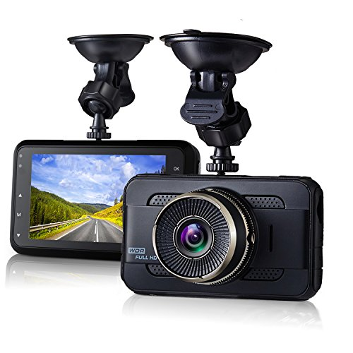 Dash Cam,EVASA 3.0″ 1080P 170° Wide Angle Metal Shell Car On Dash Video with Night Vision,G-Sensor,WDR,Loop Recording Dashboard Camera Recorder