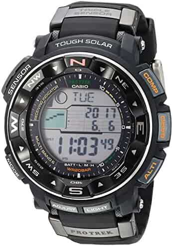 Casio Men's Pro Trek PRW-2500R-1CR Tough Solar Digital Sport Watch