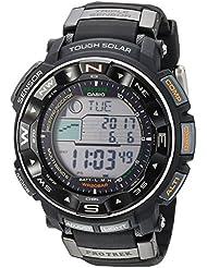 Casio Mens PRW-2500R-1CR Pro Trek Tough Solar Digital Sport Watch