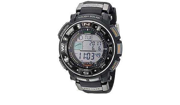 Casio PRW-2500R-1CR - Reloj de pulsera hombre, Resina, color Negro: Amazon.es: Relojes