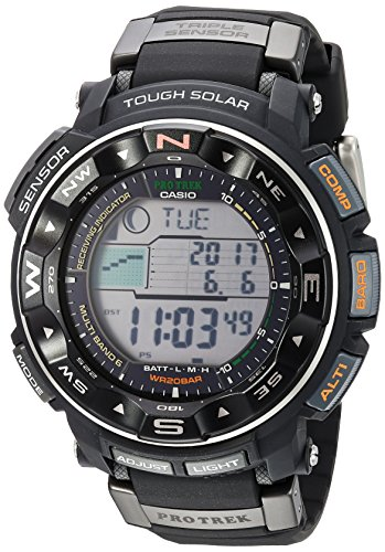 Casio Men's Pro Trek PRW-2500R-1CR Tough Solar Digital Sport Watch