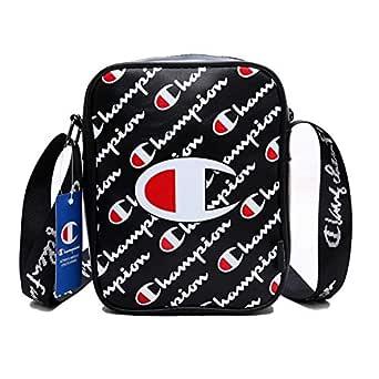 Champion Mens Womens Bag Messenger Bag Crossbody Bag Black