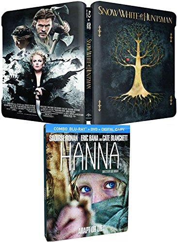 (Double Edition Steelbook DVD + Blu Ray Snow White & The Huntsman + Hanna Action 2-Pack Limited Edition)