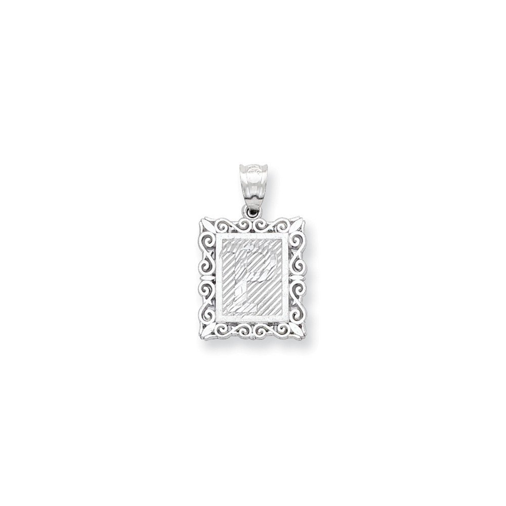 .925 Sterling Silver Initial P Charm Pendant