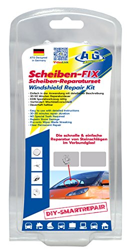ATG Windshield-FIX – Windshield Repair Kit for Crack & Scratch Removal on Windshields – Stone Chip Repair Kit 14 pcs. – DIY - Fix Glass Scratches