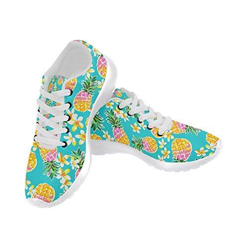 InterestPrint Womens Jogging Running Sneaker Lightweight Go Easy Walking Comfort Sports Athletic Shoes Pineapple XUbFQgF